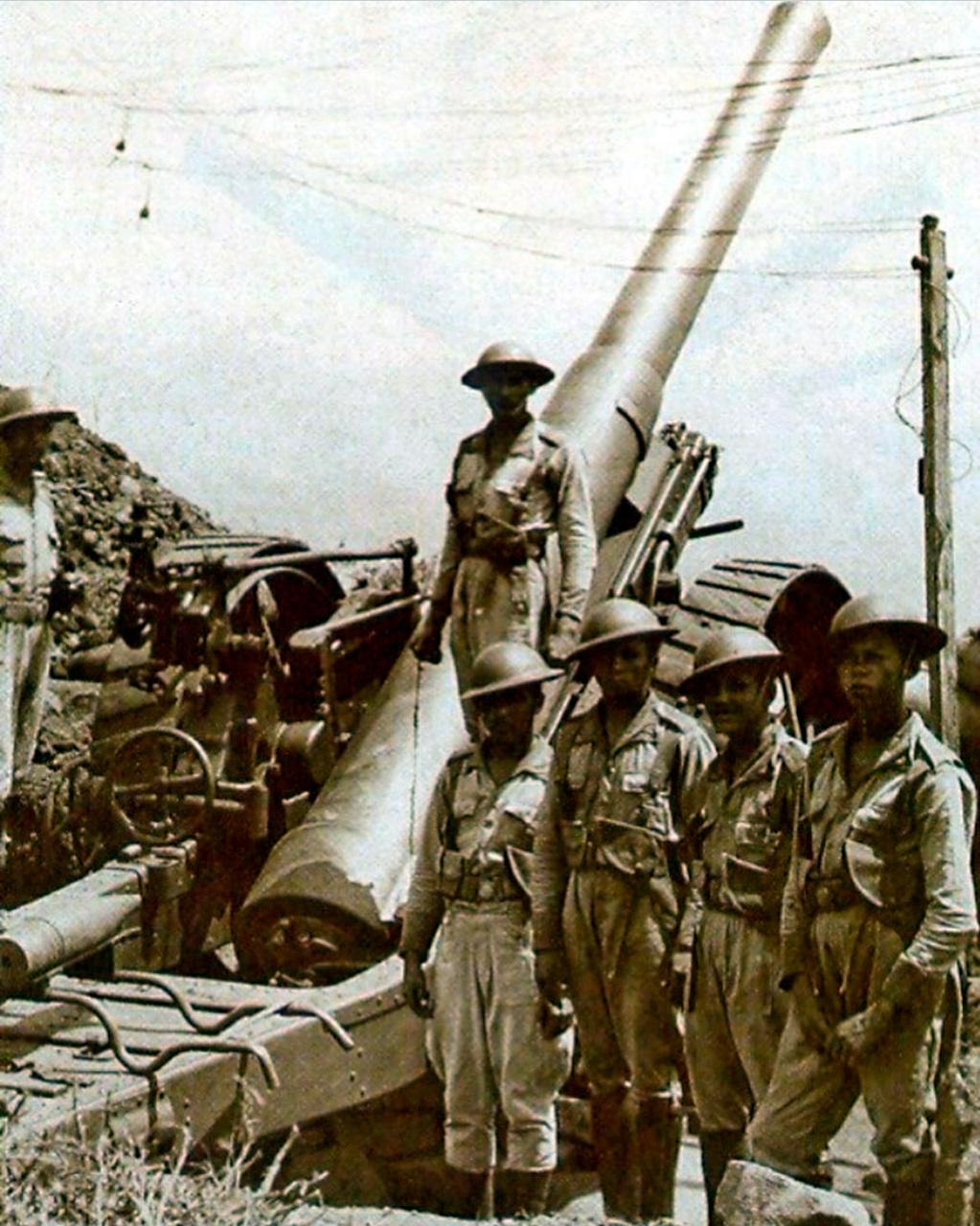 Bateria Antiaérea americana durante segunda guerra mundial